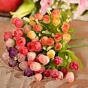"""10.2 """"l set 1 mini 15 hlav na jaře růže hedvábí květiny"""