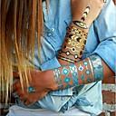 1ks elegantní zlatý náhrdelník náramek tetování dočasné tetování nálepka pokožka tetování symbol blesku tetování stran tetování