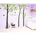 samolepky na zeď na stěnu, velký strom s jeleny opice zeď samolepky