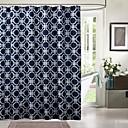 Moderní blue print voda-odporové sprchový závěs