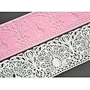 četiri-c kolač za pečenje kalup za tortu silikonska mat čipka jastuk za kolač uređenja, silikon mat Fondant za torte alati boja roza