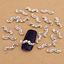 10ks bílá nail art šperky ab kamínky vousy aryclic nehtové tipy dekorace nail art stud na nehty