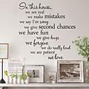 zidne naljepnice zidne naljepnice, stil u ovoj kući engleske riječi&citati PVC zidne naljepnice
