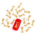 10ks zlato nail art šperky mořská panna víla aryclic nehtové tipy dekorace nail art se třpytí na nehty