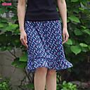 Vintage/Ležerno/Print/Posao/Plus veličine Ženski Suknje - Mini , Mikroelastično Pamuk/Poliester
