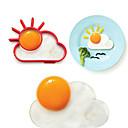 Sunce oblak oblik jajeta prsten za doručak, jaja plijesni kuhanje alata, silikon, L10 * W8 * h1.2cm