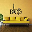 zidne naljepnice zidne naljepnice, stil Pariz riječi PVC zidne naljepnice
