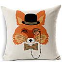 Moderní styl fox brýle vzorované bavlna / len dekorativní polštář kryt
