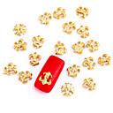 10ks zlaté nail art šperky Zlatý kříž punk rock aryclic nehtové tipy dekorace nail art se třpytí na nehty