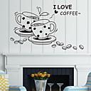samolepky na zeď na stěnu, styl šálek kávy pvc samolepky na zeď
