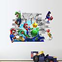 3d nástěnné samolepky na stěnu, Super Mario pvc samolepky na zeď