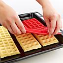 4. dutina mini ozdobné Péřovej vafle dort silikonová forma na pečení forma (náhodné barvy) 28,5 * 18,5 * 1,5 cm