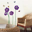 samolepky na zeď na stěnu, fialový motýl květ PVC Wall Stickers