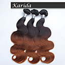 3 ks / lot ombre vlasy tělo vlna velkoobchodní peruánské vlasy, syrové nezpracované panna peruánský vlasy