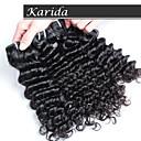 3 ks / lot indická extensions chrám vlasy, 100% v surovém stavu nejvyšší kvality hluboká vlna indická vlasy