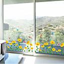 ウォールステッカーウォールステッカー、太陽の花の幅木ラインPVCウォールステッカー
