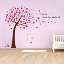 zidne naljepnice zidne naljepnice, slatka šarene PVC prijenosnih crvene sretan stablo zidne naljepnice.