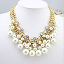 Novi dolazak fashional vruće prodaja luksuznih višeslojni kristal biserne ogrlice