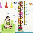 Rast žirafa chart zidne naljepnice za djecu soba zooyoo6335 djece naljepnice životinja zid umjetnosti djevojke rođendanski dar