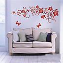 tamnocrvena cvijet zid umjetnosti zooyoo1702 dnevni boravak DIY prijenosnih zidna naljepnica zid spavaće sobe naljepnice