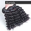 3 ks / lot levné nezpracované malajského vlasy tkát, malajské vlasy tkát deeo kudrnatými vlasy zvlněné
