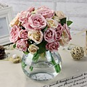 """1 Větev Hedvábí / Umělá hmota Pivoňky Květina na stůl Umělé květiny (5.9""""X 10.23"""")"""