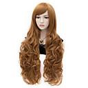 APH Elizabeth dlouhé kudrnaté hnědé vlasy cosplay paruky plný paruka