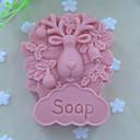 羊の動物ソープモールドフォンダンケーキチョコレートシリコーン型、装飾ツール耐熱皿