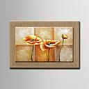 olejomalby jeden panel moderní abstraktní květiny ručně malované přírodní len připraven k zavěšení