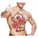2016 bezpečné netoxické vodotěsný 3d vzor tetování samolepky velké rozměry