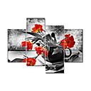Vizualni star®red cvijet modernog platnu umjetnosti slikarstvo velike količine zid slika spremni objesiti