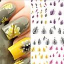 花型/抽象画/かわいい - フィンガー/指スタイル - 3Dネイルシール - 10.5X7X0.5 CM