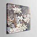 moderní styl šedé květinové nástěnné hodiny v plátně