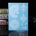 タトゥーステッカー - パターン/Waterproof - 女性/男性/大人/青少年 - 紙 - 23*15*0.2cm - パターン - 4 個