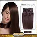 Isječak u kosu ekstenzije tamno smeđa (boja 2 #)