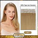 30 až 50 g / balení 16-24inch indických Remy vlasy # 27 pásku v lidských prodlužování vlasů 004