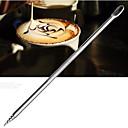針刺しがペイント花がファンシーコーヒー針(1個)刻まれた彫刻が施されたステンレス製のコーヒーかぎ針編み