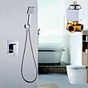 現代風 シャワーのみ 滝状吐水タイプ / レインシャワー with  真鍮バルブ シングルハンドル二つの穴 for  クロム , シャワー水栓