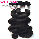 "3 Pcs Lot 8""-30"" Peruvian Body Wave Virgin Hair Wefts Natural Black 1B# Human Hair Weave Bundles Tangle Free"