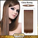 5 klipy dlouhé rovné světle hnědé (# 6), umělých vlasů klip na prodlužování vlasů pro dámy