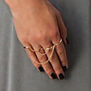 Prstýnky Módní Párty Šperky Slitina Dámské Midi prsteny 1Nastavte,Jedna velikost Zlatá
