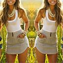 Ležérní kulatý tvar - Bez rukávů - ŽENY - Dresses ( Bavlna )