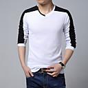Obično Muška Majica s rukavima Ležerne prilike / Posao / Formalno / Plus veličine,Pamuk Dugih rukava-Crna / Bijela / Siva