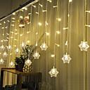 Vánoční opona KTV bary svatební zajiskření vodopád světla dekorace lampy vodotěsné String světla 3m