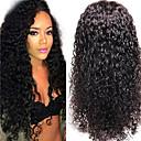 """nezpracované 10 """"-24"""" panna mongolian vlasy přírodní barevné vlnité plné krajky paruka 130% hustotou lidské vlasy, paruky"""