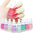 6pcs matte nagellak nagellak smaakloos candy-kleurige matte nagellak