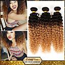"1pcs / lot 10 ""-24"" 100g / piece brazilian rambut perawan keriting keriting 7a kelas dua nada 1b / 27 remy ombre rambut manusia menenun"