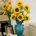 1 Větev Polyester Slunečnice Květina na stůl Umělé květiny 87 x 16 x 16 (34.25'' x 6.29'' x 6.29'')