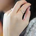 Prstenje Dnevno / Kauzalni / Sport Jewelry Legura / Zircon Žene Klasično prstenje 1pc,10 Zlatna / Crna / Srebrna / Crvena