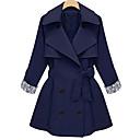 Ležérní Véčkový výstřih - Dlouhé rukávy - ŽENY - Coats & Jackets ( Polyester )